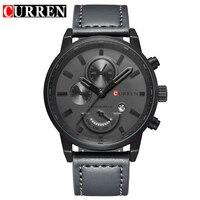 CURREN Relogio Masculino Mens Watches Top Brand Luxury Leather Fashion Casual Sport Clock Quartz Watch Men