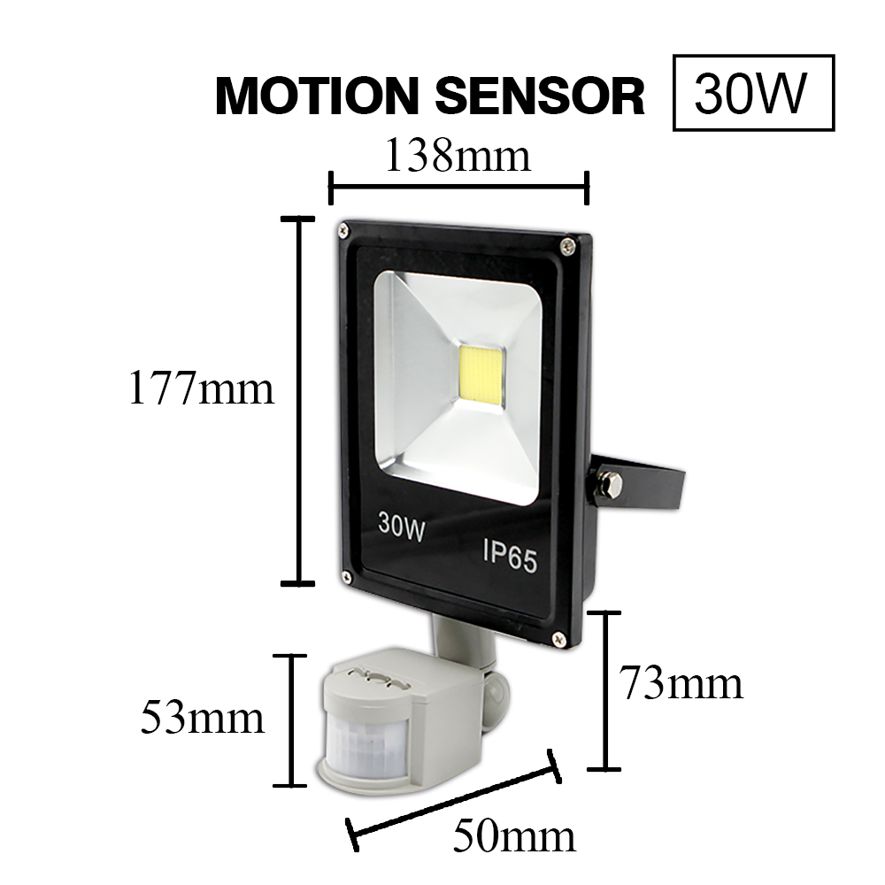 LED Floodlight with Street Motion Sensor 38
