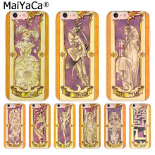 Maiyaca Alpha Sakura Card Captor Cardcaptor Suara Kartu untuk iPhone 8 7 6 6S Plus X 10 5 5S SE XR XS X Max Cover(China)