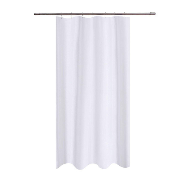 72x40 Fabric Waterproof Shower Curtain Transparent Mildew Resistant Washable Water Repellent For Bathroom