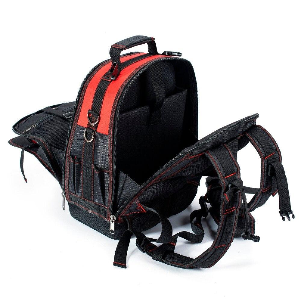WORKPRO nueva herramienta mochila comerciante organizador bolsa impermeable bolsas de herramientas multifunción mochila con 37 bolsillos - 5