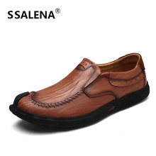 Men Business Luxury Leather Casual Shoes Comfortable Slip-On Handmade Shoes Mens Italian Antiskid Driving Shoes AA11642