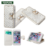 YESPURE Luxury Phone Case Flip Cell Phone Covers For Galaxy S7 Edge Diamond Mobile Phone Card
