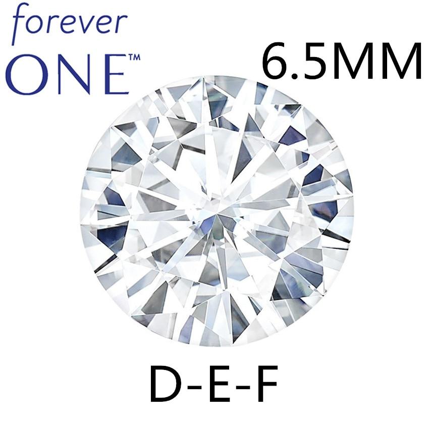 Certified Charles Colvard FOREVER ONE 0.88 CT Round Brilliant Cut White Moissanite Diamond Loose Stones 6.5mm D E F Color VVS VS цена