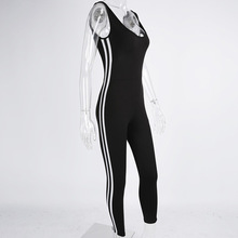 2017 Female Suit For Fitness Sports Wear Jumpsuit Overalls Backlesss Gym Workout Tracksuit For Women Running Clothes