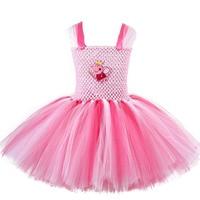 Kids Cosplay Magical Fairy Costumes Knee Length Pink Little Pig Piggy Cartoon Cosplay Tutu Dress Birthday Party Dress