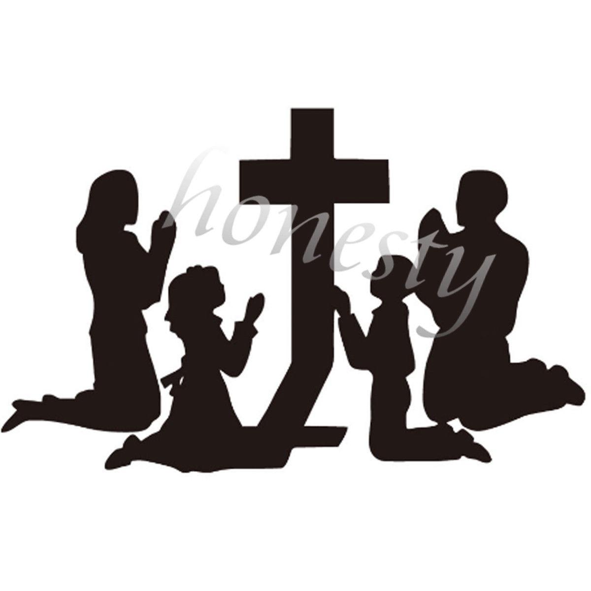 Family Praying Wall Home Door Window Glass Car Sticker