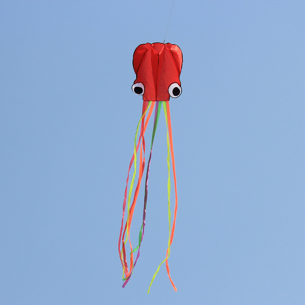 VKTECH 4M Cartoon Octopus Kite Single Line Stunt /Software Power Kids Kite With 30m Kite String Toys for Children Outdoor Fun