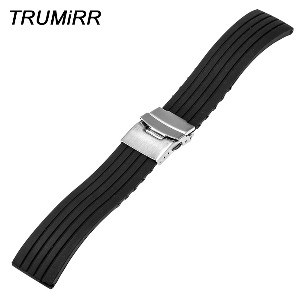 18mm Silicone Band for Huawei Watch / Fit Honor S1 Asus ZenWatch 2 Women's WI502Q Rubber Strap Stainless Steel Buckle Bracelet умные часы asus zenwatch 2 wi502q leather gray