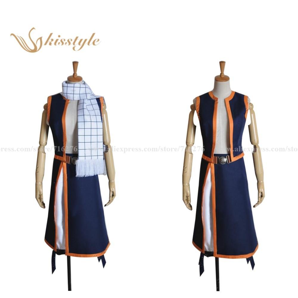 Kisstyle Fashion Fairy Tail Natsu Dragneel Cosplay kostým, Cusomized přijat