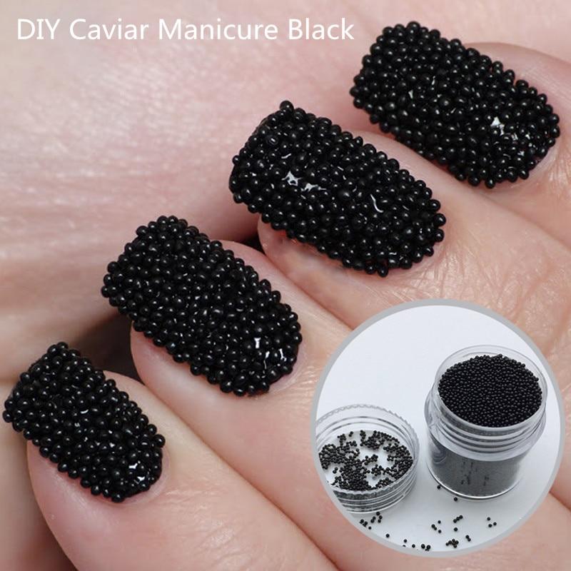 Caviar Nails: 10g/box Micro Mini Beads Fashionable Caviar Nails For