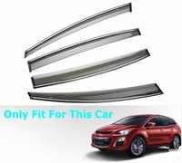 Car Window Cover Visor Sun Rain Wind Deflector Awning Shield ABS For Mazda cx 7 2015