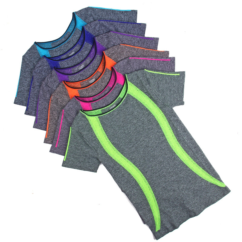 New-Style-Yoga-Gym-Compression-Tights-Women-s-Sport-T-shirts-Dry-Quick-Running-Short-Sleeve3