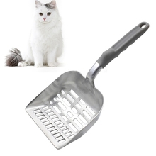 Durable Useful Cat Shovel Pet Stainless Steel Litter Sieve Round Sand Bath Cleaning Product Highly Efficient