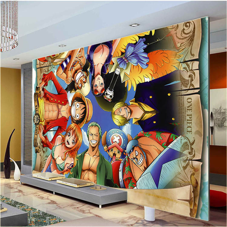 Compare prices on japanese cartoon wallpapers online for Cartoon wall mural