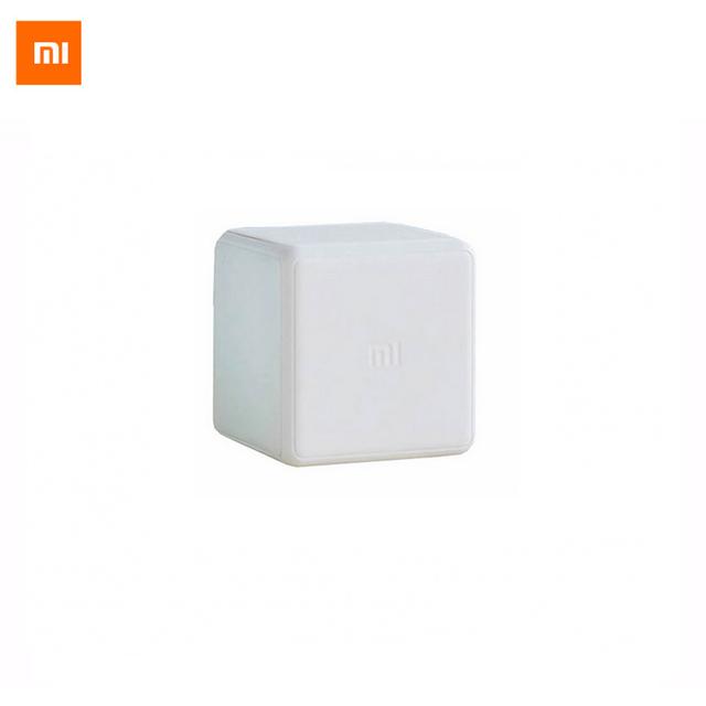 Original xiaomi mi cubo mágico controlador zigbee control de versiones by seis acciones con dispositivos de aplicación de teléfono para el hogar inteligente