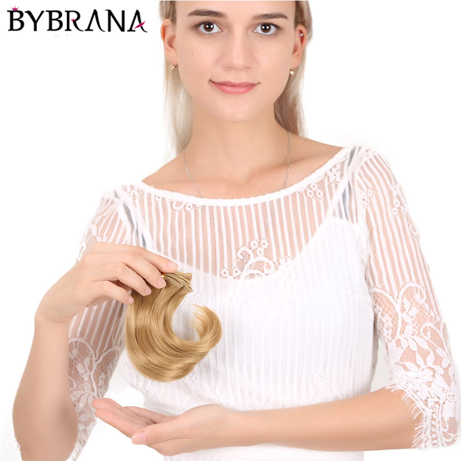 Bybrana Black Brown Silver Multicolor Color 15*100cm Hair SD BJD Wigs For Dolls DIY Free Shipping