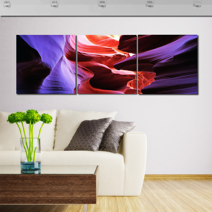 Abstract Painting Canvas Decor Large Wall Art Paintings <font><b>Color</b></font> <font><b>Blue</b></font> Red Stone Artwork <font><b>Pictures</b></font> For Home Rooms No <font><b>Frame</b></font> Panel 3