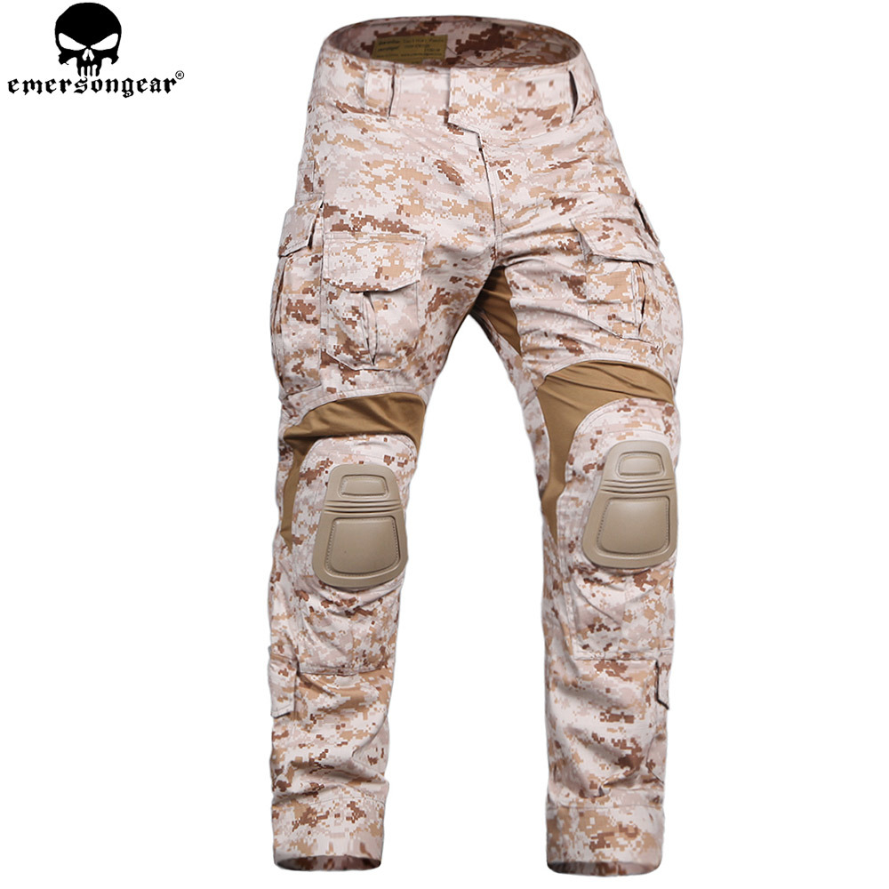 EMERSONGEAR Combat Pants with Knee Pads Tactical Trousers Airsoft Military Army Hunting Pants Camouflage Suit Aor1 emersongear g3 combat pants with knee pads military bdu army airsoft emerson gear paintball hunting trousers em7046 mandrake
