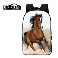 Dispalang Brand Computer Notebook Laptop Backpack Horse Panda Print Women Travel Backpack College Student Bookbag Casual Bagpack
