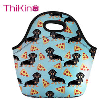 Thikin Lovely Dachshund Lunch Bag For Women Cute Dog Printin Thermal Lunchbox Travel Lancheira Kid Girl Cooler Food lunchbag