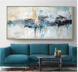 Image 4 - Abstrakte kunst malerei moderne wand kunst leinwand bilder große wand gemälde handgemachte ölgemälde für wohnzimmer wand dekor kunst