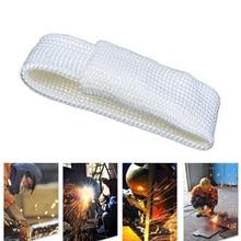 TIG ריתוך אצבע כפפת קומבו רתך כלי זכוכית סיבי ריתוך כפפות חום חומת משמר הגנת חום ציוד