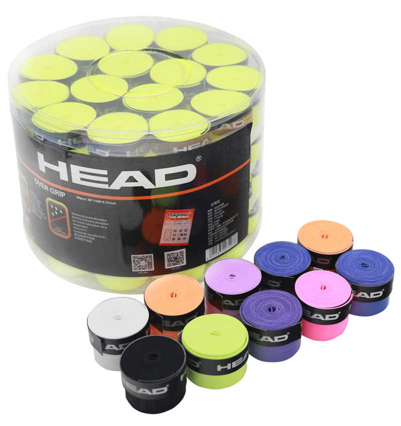 10Pcs Head Tennis Overgrip Tennis Sweatband Tenis Over Grip Tennis Racket Wrap Tape Tenis Dampener Grip Badminton Racket Grip