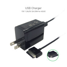 100% Genuine Original USB 15V 1.2A 5V 2A Power Adapter Charger AD8273 for ASUS TF101 TF201 TF300 SL101 Tablet US Plug Free Cable