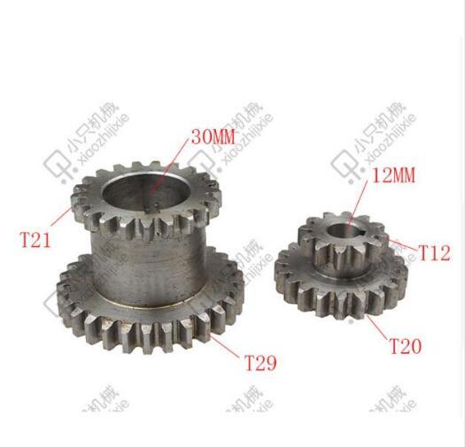free shipping CJ0618 2 pcs set Teeth T29xT21 T20xT12 Dual Dears Metal Lathe Gears For Sale