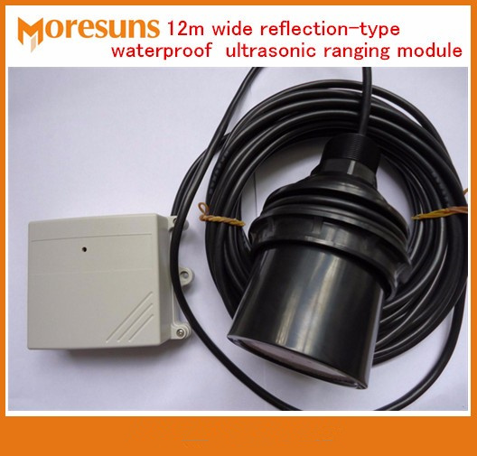 Fast Free Ship 12m wide range and remote reflective waterproof type ultrasonic ranging module/liquid level sensor