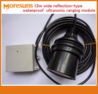 Fast Free Ship 12m wide range and remote reflective waterproof type ultrasonic ranging module/liquid level sensor