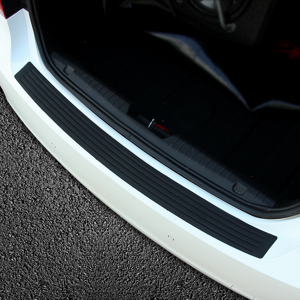 Image 4 - Car Rubber Rear Guard Bumper Protector Trim Cover Car Sticker Plate for Renault Sceni C1 2 C3 Modus Duster Logan Sandero-in Car Stickers from Automobiles & Motorcycles