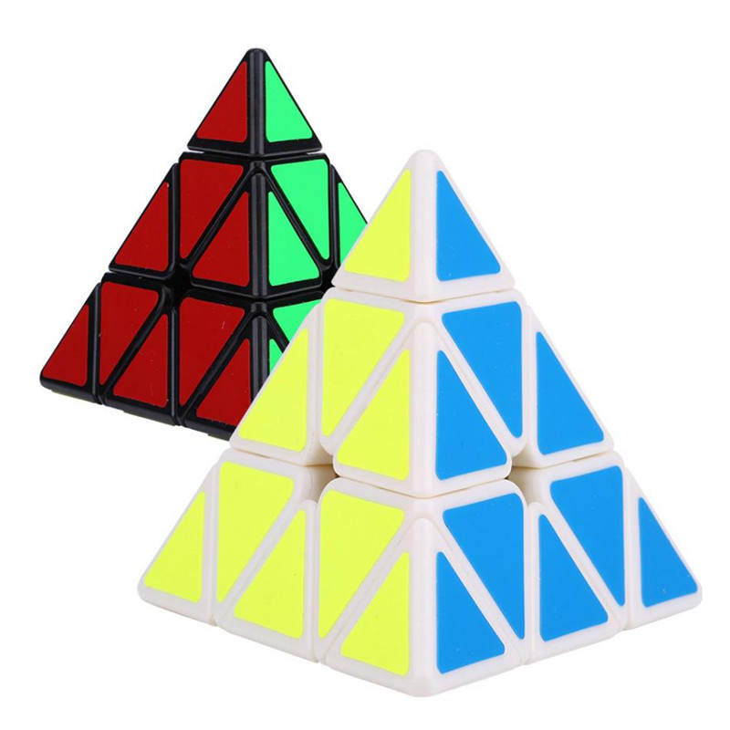 1 Pcs New Qiyi Triangle Pyramid Magic Cube 3x3x3 Puzzle Speed Cubes For Kids Toys Gift Children Education Toy Wholesale(China)
