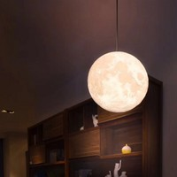 16 Colors Led Moon Lamp Rechargeable Decorative Lights 3D Print Led Moon Light Hang Ceiling Lamp Dimmable Lamps Night Lights