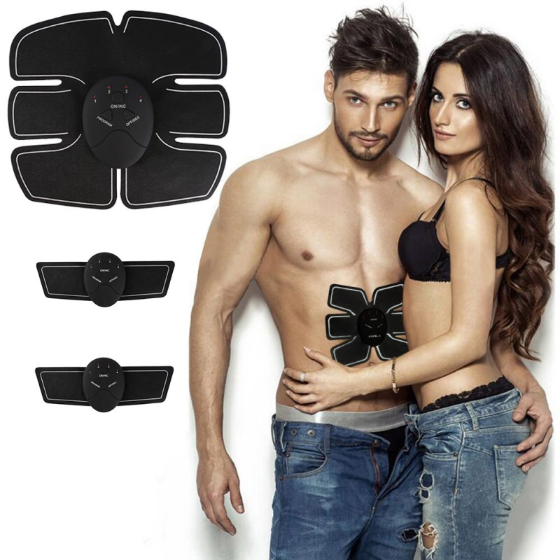 Man/Women Electric Abdominal muscle Trainer body Massage Fit Training Exercise abdominal muscles Loss <font><b>Slimming</b></font> abdomen Massager