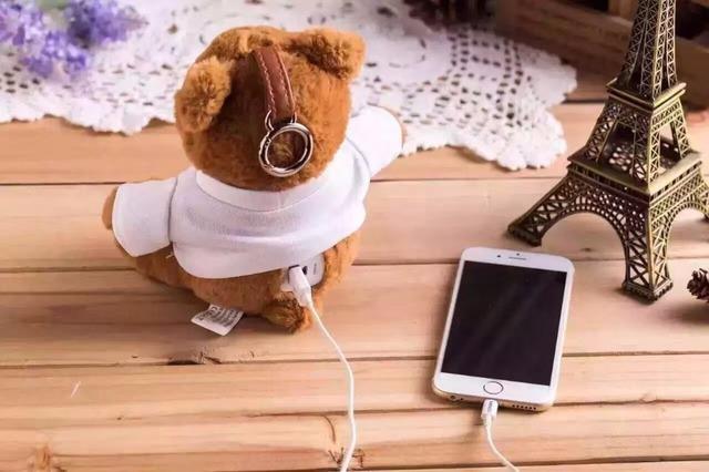 Urso bonito de carregamento tesouro 10,000 mA de energia móvel portátil, carregador de emergência para uma variedade de telefone celular dos desenhos animados tablet