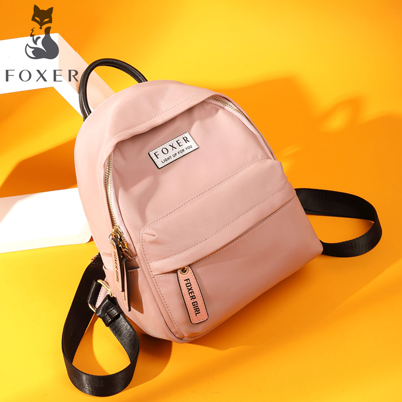 FOXER Women's Oxford Backpack School Bags For Teenage Girls Ladies Practical Functional Travel Bags Fashion Backpack For Girl фильтр угольный cf 101t