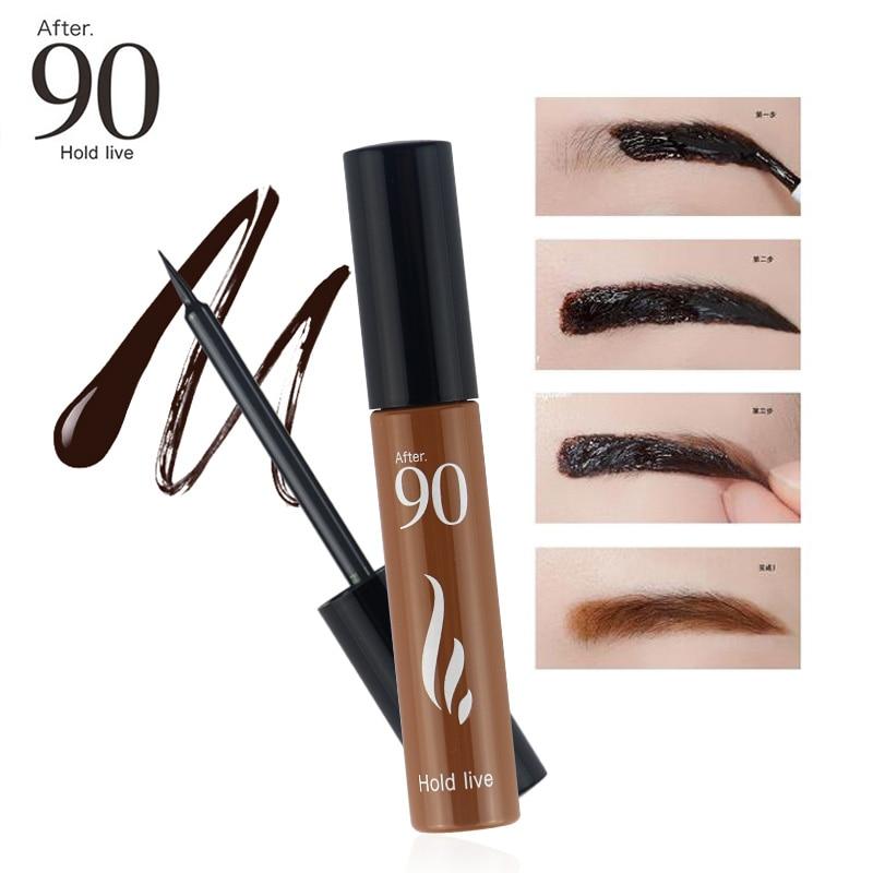 Efter 90 Ny Ankomst 3Colors 72H Långvarig Peel Off Ögonfärg Tint Makeup Ögonfärg Tattoo Gel Färgning Naturliga Vattentäta Ögonbryn
