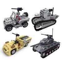 M24 Assembly Blocks Tank Remote Assault Vehicle Venetian Jeep Light tank blocks Toys For Kids