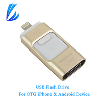 LL TRADER OTG USB Flash Drive Pen Drive 64 128GB For IPhone IPad IOS Android Mac