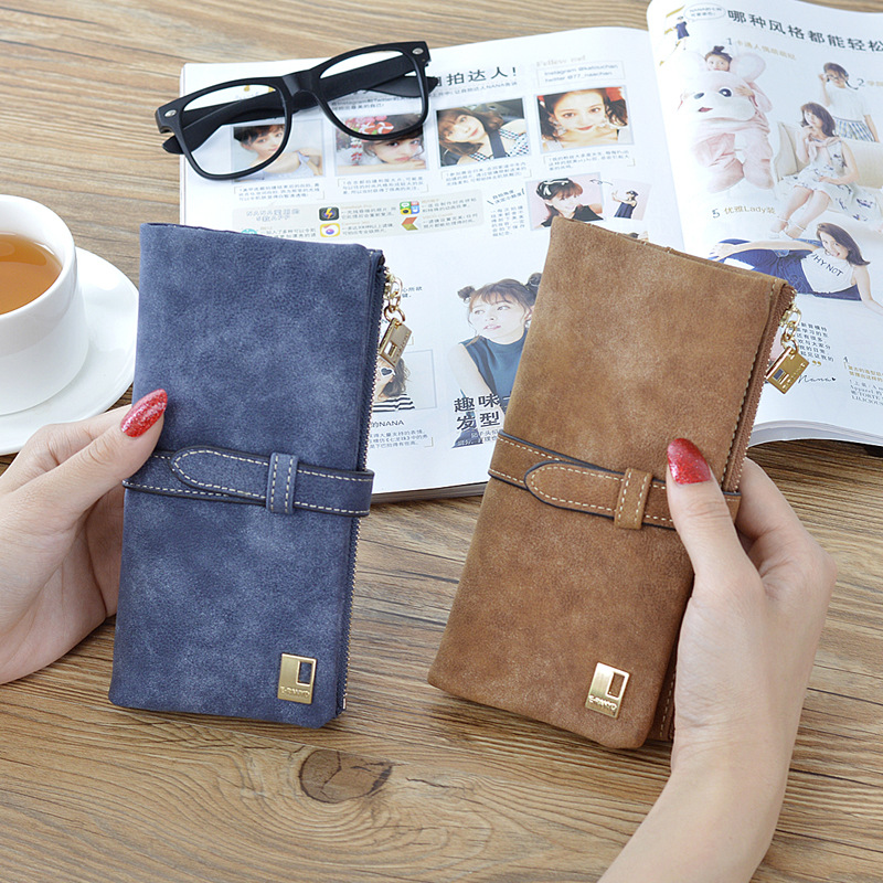 купить New Arrive Women Brand Long Purse Clutch 2017 Fashion Retro Matte Stitching Wallet Women Casual Hasp Dollar Price Wallet Handbag недорого
