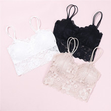 New thin cup full lace breathable push up bra new fashion sexy free size AB cup women underwear brassiere wire free lingerie(China)