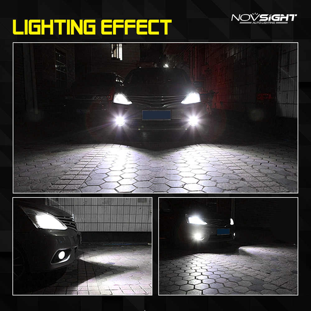 Novsight H11 1800LM Mobil LED Kabut Lampu H8 H9 H16JP Auto Mengemudi Kabut Lampu Bulbs Putih