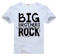 Big Brothers Rock and Roll Tee t shirt for toddler kids children boy girl cartoon t-shirt(China)