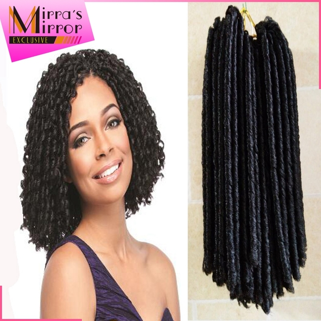14 inches Soft Dread Braids Havana Hair Synthetic Curly Hair Weave ...