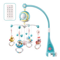 Newborn Baby Rotating Crib Bed Bell Rattles Crib Mobiles Toy Holder With Music Box Projection For 0 18 Months Infant