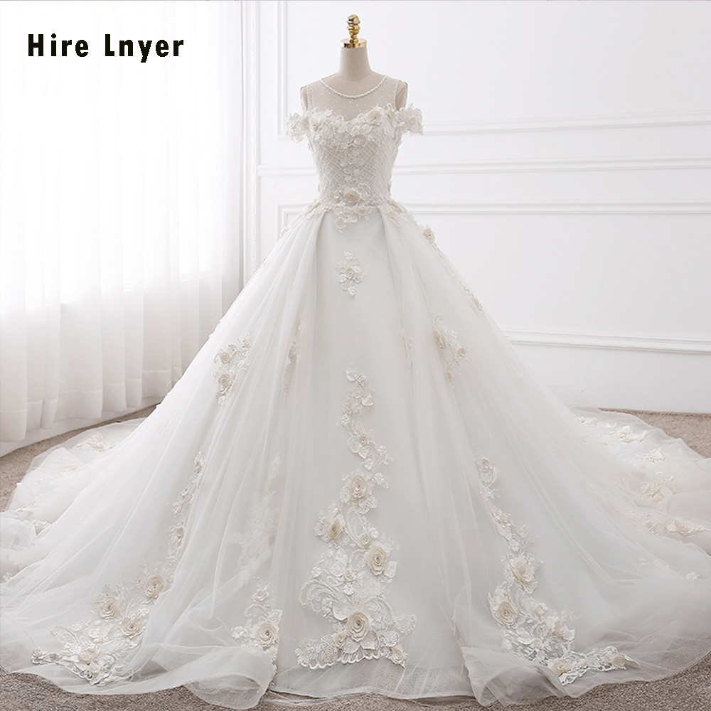 NAJOWPJG 2018 Casamento Ivory Appliques Light Champagne Tulle See ...