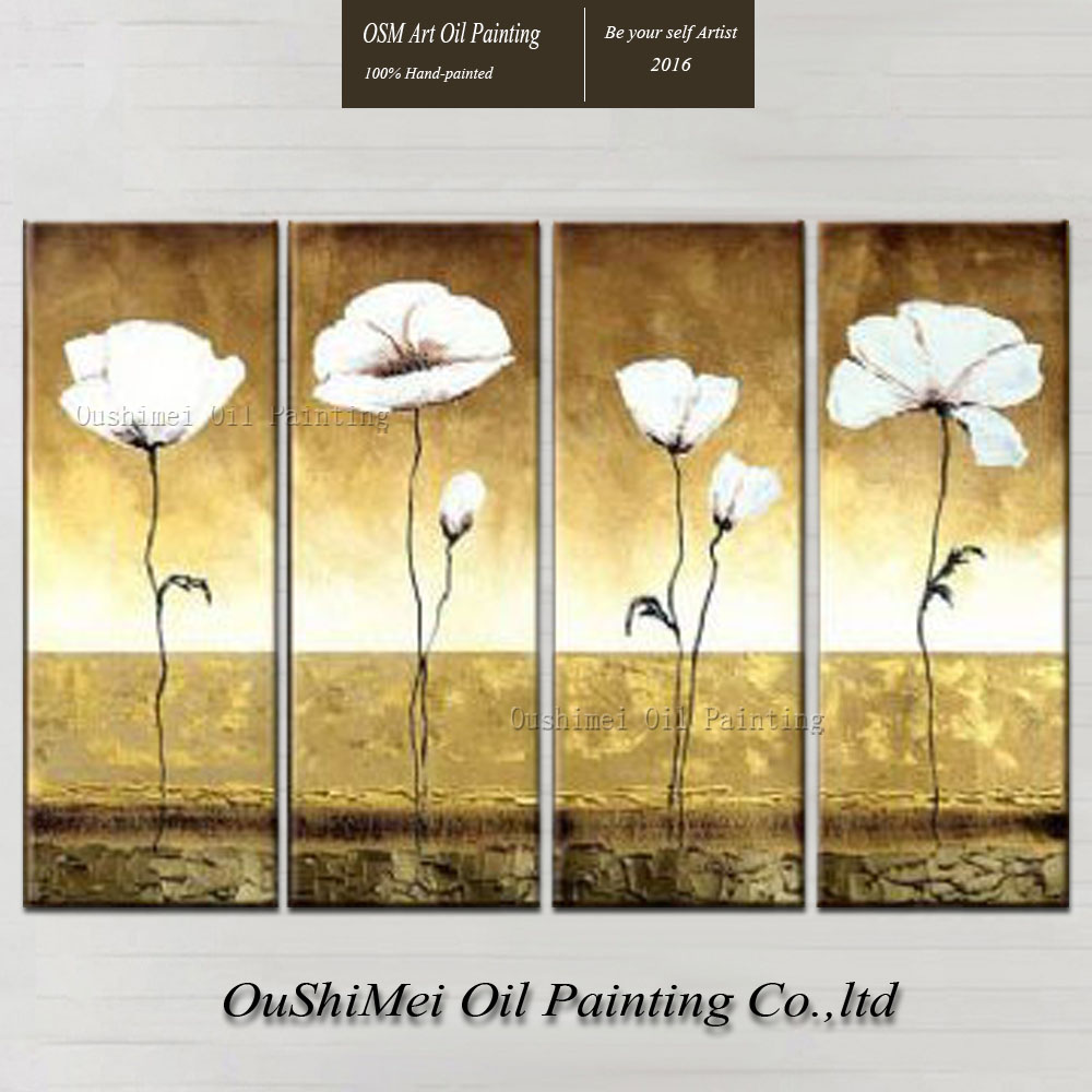 Manufacturer Wholesale High Quality Modern Abstract White Flowers