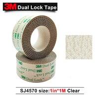 3 M adesiva dupla fita bloqueio low profile reclosable fastener SJ4570 claro adesiva dupla bloqueio pontos 1in * 1 M|Ferrolhos| |  -